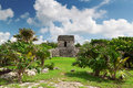 Archaeological ruins of Tulum Royalty Free Stock Images