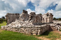 Archaeological ruins of Tulum Stock Photos