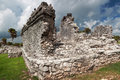 Archaeological ruins of Tulum Royalty Free Stock Photography