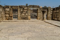 Archaeological site Capernaum, Sea of Galilee in Israel
