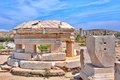 Archaeological site of delos greece cyclades islands remains ancient sanctuary apollo above kynthos hill the is on Royalty Free Stock Photography