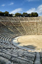 Archaeological site greece ancient theater of epidaurus and of asklepios Royalty Free Stock Image