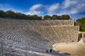 Archaeological site greece ancient theater of epidaurus in the of asklepios Stock Photography