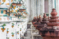 Archaeological site in wat arun bangkok thailand Royalty Free Stock Photo