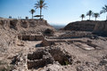 Archaeology excavations in israel national park Stock Photos