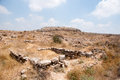 Archaeology excavations in israel tel lakhish first temple palace city and gate judea Stock Images