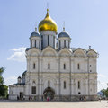 Archangel cathedral of the moscow kremlin moscow Royalty Free Stock Photos