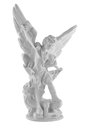 Archangel saint angel monument statue Stock Photo