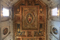 Archbasilica of St. John Lateran - San Giovanni in Laterano - ceiling, Rome, Italy Royalty Free Stock Photo