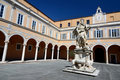 Archbishops Palace courtyard, Pisa, Italy Stock Photos