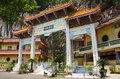 Archecture of main enterance of sam poh tong ipoh is a famous cave temple located in gunung rapat about km south Stock Photo