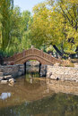 Arched Chinese bridge Stock Photography