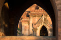 Arched doorway brick in myanmar Royalty Free Stock Photography