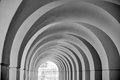 Arched entrance in Black and White Royalty Free Stock Photo