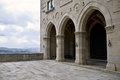 Arched facade of a historic building san marino Royalty Free Stock Photo