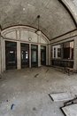 Arched Lobby - Abandoned Train Station Royalty Free Stock Photo
