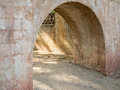 Arched passageway, Southwestern architecture Royalty Free Stock Photo