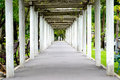 Arched walkways park Royalty Free Stock Image