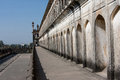 Arched wall of the Mughal shrine Bara Imambara Stock Photos