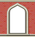 Arched window, bricks Royalty Free Stock Photography