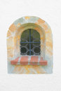 Arched window with marble frame Royalty Free Stock Photo