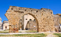 Archeological area of brindisi puglia italy perspective tha Stock Photo