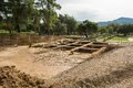 Archeological dig site ancient olympia greece unesco world heritage Royalty Free Stock Photo