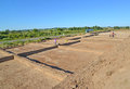 Archeological excavations in the kaliningrad region russia Stock Photo