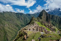 Archeological site of Machu Picchu ,Peru Royalty Free Stock Photo