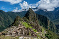 Archeological site of Machu Picchu ,Peru Royalty Free Stock Photo