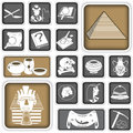 Archeology squared icons a collection of different Royalty Free Stock Image