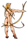 Archer elf with arch and arrow. Stock Image