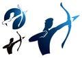 Archer Logo Royalty Free Stock Photo