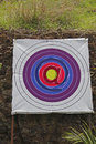 Archery board shooting targets email icon at symbol concept Royalty Free Stock Image
