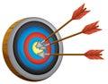 An archery board