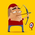 Archery competition Royalty Free Stock Image