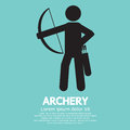 Archery graphic sign vector illustration Royalty Free Stock Photography
