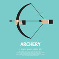 Archery hand holding graphic vector illustration Stock Images