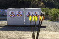 Archery in a Shooting Range Royalty Free Stock Photo