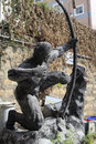 Archery statue in jimei town amoy city china Royalty Free Stock Image