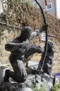 Archery statue Royalty Free Stock Photo
