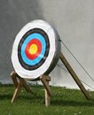 Archery Straw Target. Royalty Free Stock Image