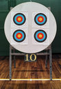 Archery targets and number official cm under them Royalty Free Stock Photo