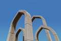 Arches in ajman roundabout united arab emirates near museum Royalty Free Stock Photo
