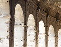 Arches beneath coliseum the in rome italy Royalty Free Stock Image