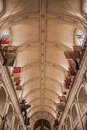 The arches of the catholic church paris france Stock Image
