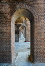 Arches fort jefferson at the dry tortugas national park to ocean outside key west florida Royalty Free Stock Image