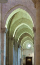 Arches in interior of gothic Cathedral Royalty Free Stock Photo