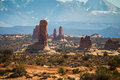 Arches national park in the state and utah united states Stock Image