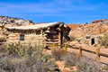 Arches national park wooden house in the in the state and utah united states Stock Photos
